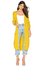 Free People Run To You Cardigan in Yellow