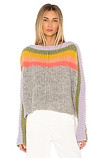 Free People See The Rainbow Sweater in Grey