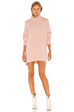 Free People Afterglow Mock Neck Sweater Dress in Pink