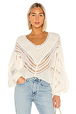Free People Snowball Sweater in Ivory