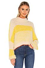 Free People Sunbrite Sweater in Yellow