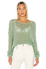 Free People Angel Soft Pullover in Mint