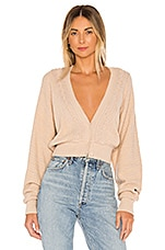 Free People Moon River Cardigan in Neutral