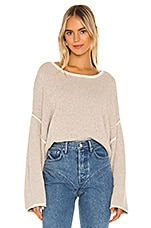 Free People Bardot Sweater in Grey