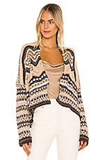 Free People Feeling Nostalgic Cardigan in Neutral Combo