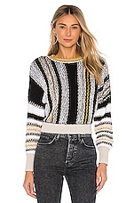 Free People Show Me Love Pullover in Black Combo