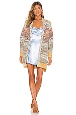 Free People Dreaming Again Cardi in Blue Combo