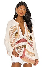 Free People Bayside Pullover in Neutral Combo