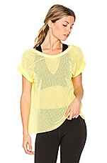 Hot Stuff Mesh Tee in Yellow