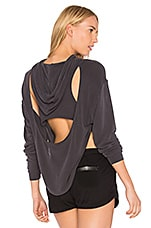 Free People X FP Movement Back Into It Hoodie in Black