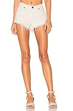 Soft & Relaxed Cut Off Shorts in Worn White