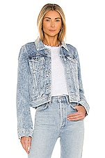Free People Rumors Denim Jacket in Indigo Blue