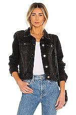 Free People Rumors Denim Jacket in Black