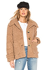Free People So Soft Cozy Peacoat in Brown