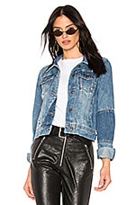 Free People Rumors Denim Jacket in Navy