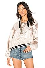 Free People Starshine Quarter Zip Jacket in Ivory Combo