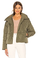 Free People Weekend Puffer in Olive
