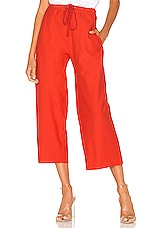 Free People X FP Movement Sideline Pant in Red