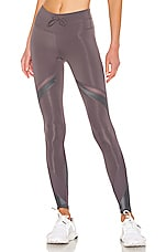 Free People Movement Mid Rise Tap Back Legging in Grey