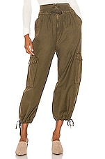 Free People Fly Away Parachute Pant in Army