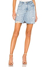 Free People Hallie Skirt in Washed Denim
