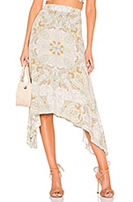 Free People At The Shore Skirt in Neutral Combo