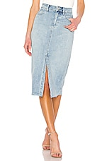 Free People Wilshire Denim Skirt in Light Denim