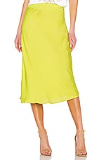 Free People Normani Bias Skirt in Lime