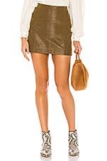 Free People Modern Femme Vegan Suede Skirt in Cedar