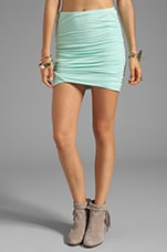 Essential Scrunch Mini Skirt in Mint