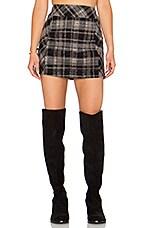 Zip it to Plaid Mini Skirt* in Black Combo