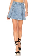 JUPE DENIM LACE UP