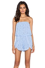 Tahlia Lace Romper in Bluebell
