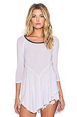 Free People Weekends 3/4 Sleeve Top in Lavender Mist Combo