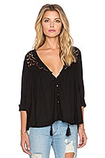 Doin' It Right Blouse en Noir