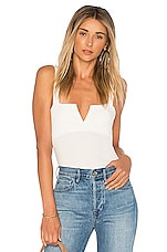 Free People Pippa V-Wire Bodysuit in Ivory