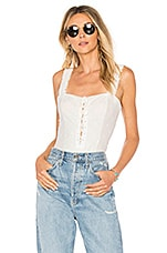 Free People Make Me Up Bodysuit in Ivory