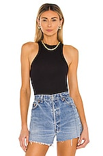 Free People Wide Eyed Tank in Black