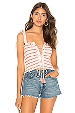 Free People Electric Love Smocked Top in Ivory