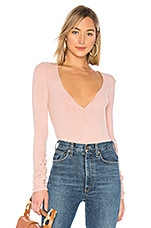 Free People Cozy Up With Me Bodysuit in Rose