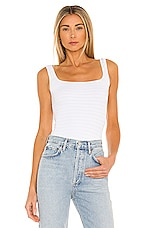 Free People Square One Seamless Cami in White