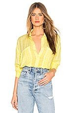 Free People Loveland Solid Button Down in Yellow