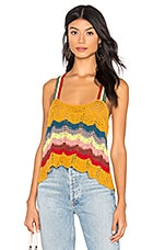 Free People Winding Road Tank in Yellow Combo