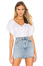 Free People Not Basic Bodysuit in White