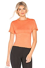 Free People X FP Movement Madeline Funnel Baby Tee in Peach