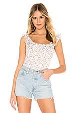 Free People Stay With You Top in White