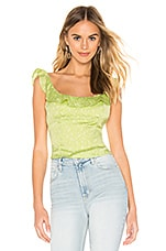Free People Stay With You Top in Lime