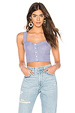 Free People Perfectly Stripe Crop Top in Blue