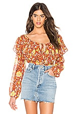 Free People Say It To Me Bodysuit in Red Combo