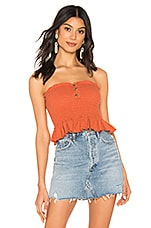 Free People Babe Tube Top in Brown